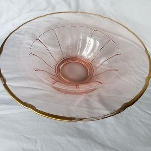 1930's Pink Depression Glass Serving Bowl